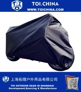 All-Weather Motorcycle Cover-Heavy Duty Extra Large Black for 104 Inch Motorcycles Like Honda, Yamaha, Suzuki, Harley. Keeps Your Bike Dry and Protected Year Round
