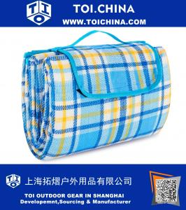 Extra Large Picnic And Outdoor Blanket with Waterproof Backing Bag