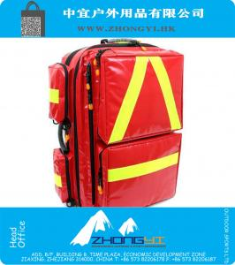 Large size Medical Backpack Red Water resistant PVC