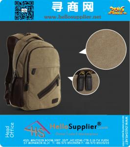 Male Package Shoulder Bag Canvas Bag Casual College Computer Bag Travel Bag Backpack Schoolbag